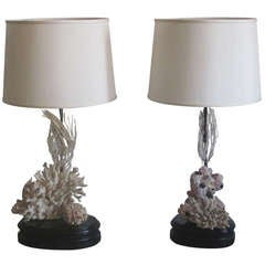 Pair of Coral Table Lamps