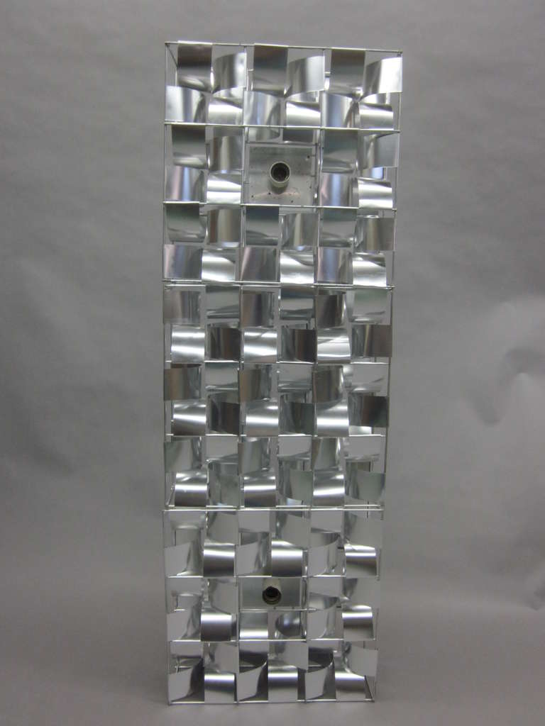 Mid-Century Modern French Mid-Century 3 Panel Wall Sconce / Floor Light Sculpture by Max Sauze For Sale