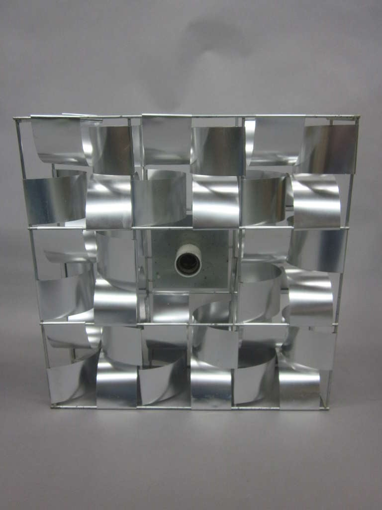 French Mid-Century 3 Panel Wall Sconce / Floor Light Sculpture by Max Sauze For Sale 1