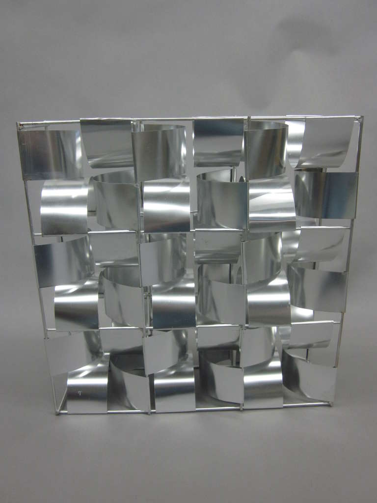 French Mid-Century 3 Panel Wall Sconce / Floor Light Sculpture by Max Sauze For Sale 2
