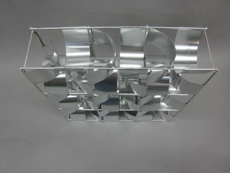French Mid-Century 3 Panel Wall Sconce / Floor Light Sculpture by Max Sauze For Sale 4