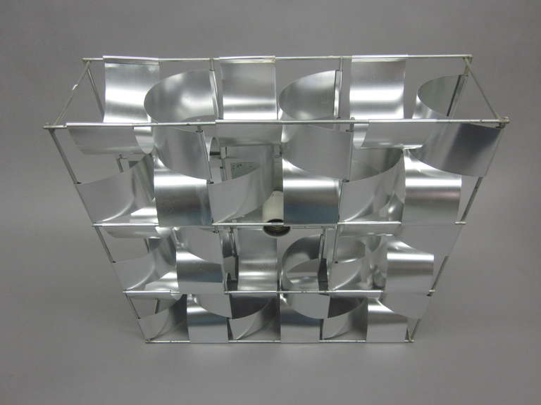 French Mid-Century 3 Panel Wall Sconce / Floor Light Sculpture by Max Sauze For Sale 3