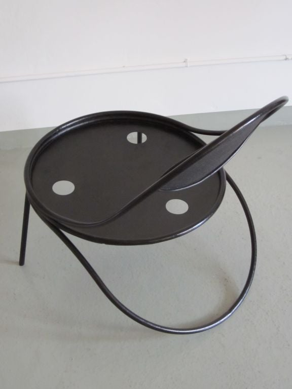Pair French Mid-Century Modern Iron 'Copacabana' Chairs, by Mathieu Matégot 1950 For Sale 2