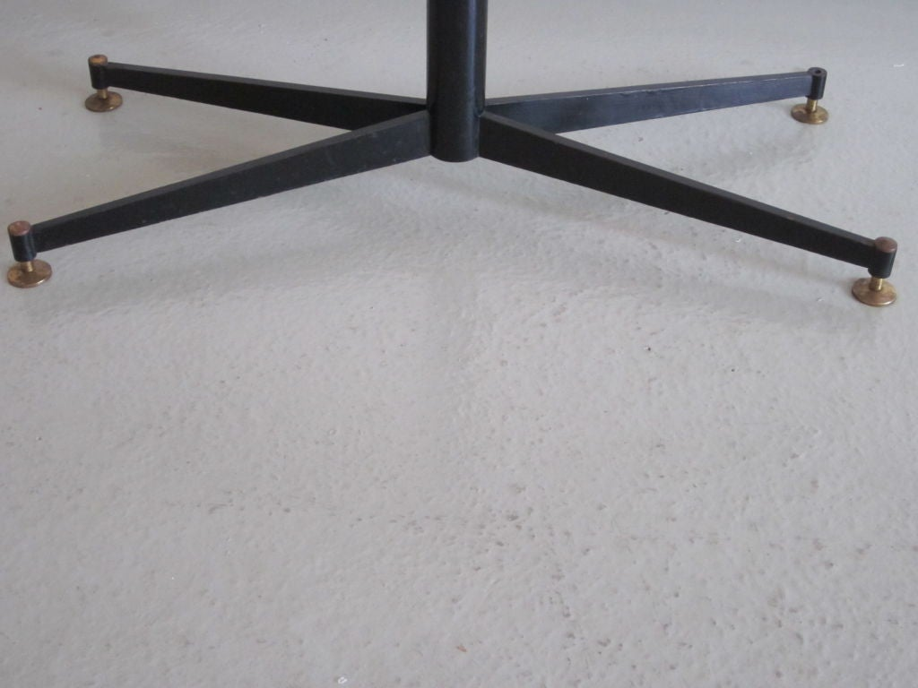Italian Mid-Century Modern Coffee Table with Sand Cast Glass Top by Sergio Mazza 6