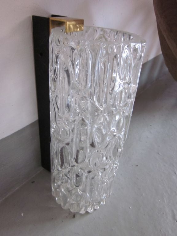 Pair of Italian Murano Glass Sconces For Sale 1