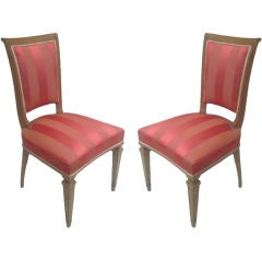 2 French Mid-Century Modern Neoclassical Side /Desk Chairs Attr. to André Arbus