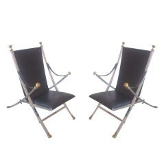 Iconic Pair of French Modern Neoclassical Armchairs, style of Maison Jansen