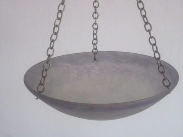 French Art Nouveau 'Pate Verre' Chandelier / Pendant by Degue For Sale 1