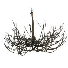 French Mid-Century Modern Craftsman 'Twig' Chandelier