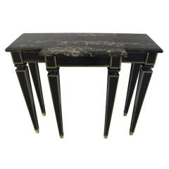 French 1940 Ebonized Console by Maison Jansen