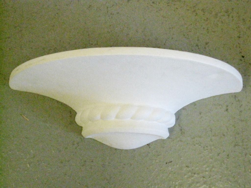 Six French MId-Century Modern Neoclassical Plaster Sconces Attributed to Arlus 2
