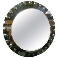 Italian Modern Sunburst Mirror by Crystal Arte
