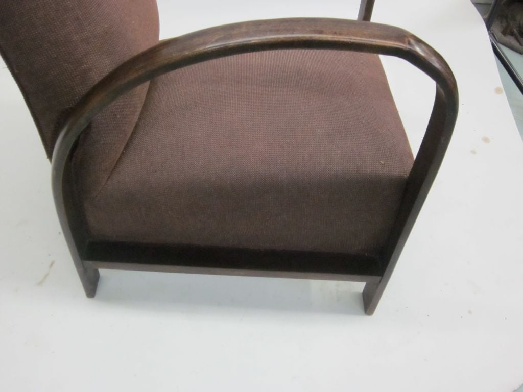 Pair of French Mid-Century Modern Lounge Chairs, in Style of Jacques Adnet, 1930 For Sale 5