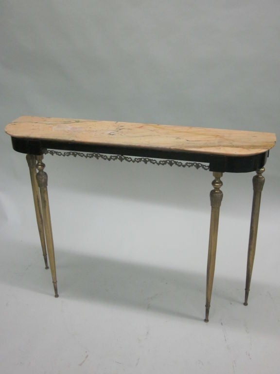 Italian Mid-Century Modern Neoclassical Console Table 1