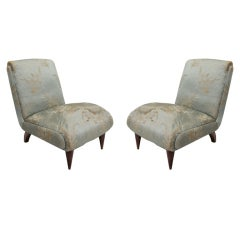 Pair of Slipper Chairs by Guglielmo Ulrich, Italy, circa 1930