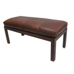 Hand-sewn Leather Bench by Pierre Lottier