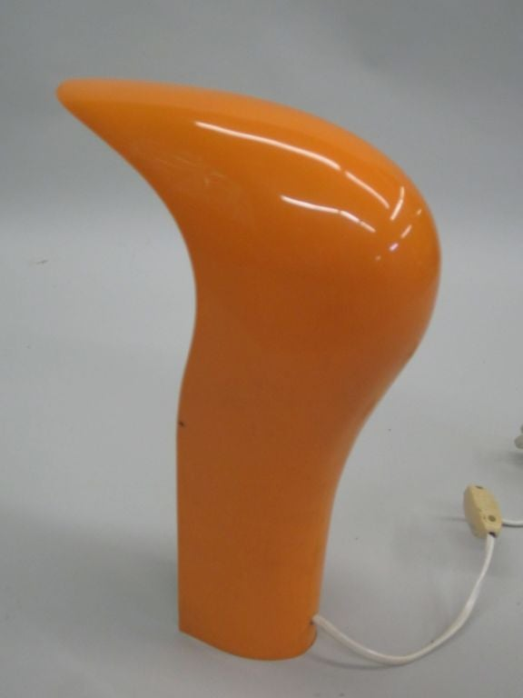 Italian Mid-Century Modern Plastic 'Pelota' Table Lamp by Casati and Ponzio In Good Condition For Sale In New York, NY