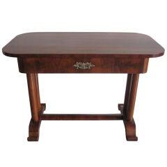 Austrian Biedermeier Modern Neoclassical Desk / Console / Vanity in Walnut