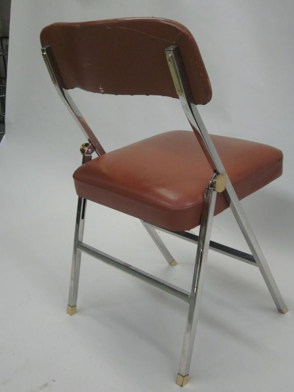 Late 20th Century Ten French Mid-Century Modern Dining Chairs by Guy Lefevre for Maison Jansen For Sale