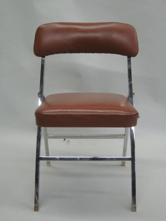Ten French Mid-Century Modern Dining Chairs by Guy Lefevre for Maison Jansen For Sale 1