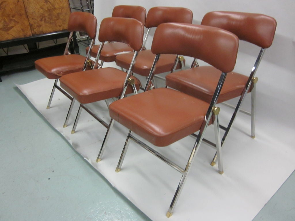 Ten French Mid-Century Modern Dining Chairs by Guy Lefevre for Maison Jansen For Sale 5