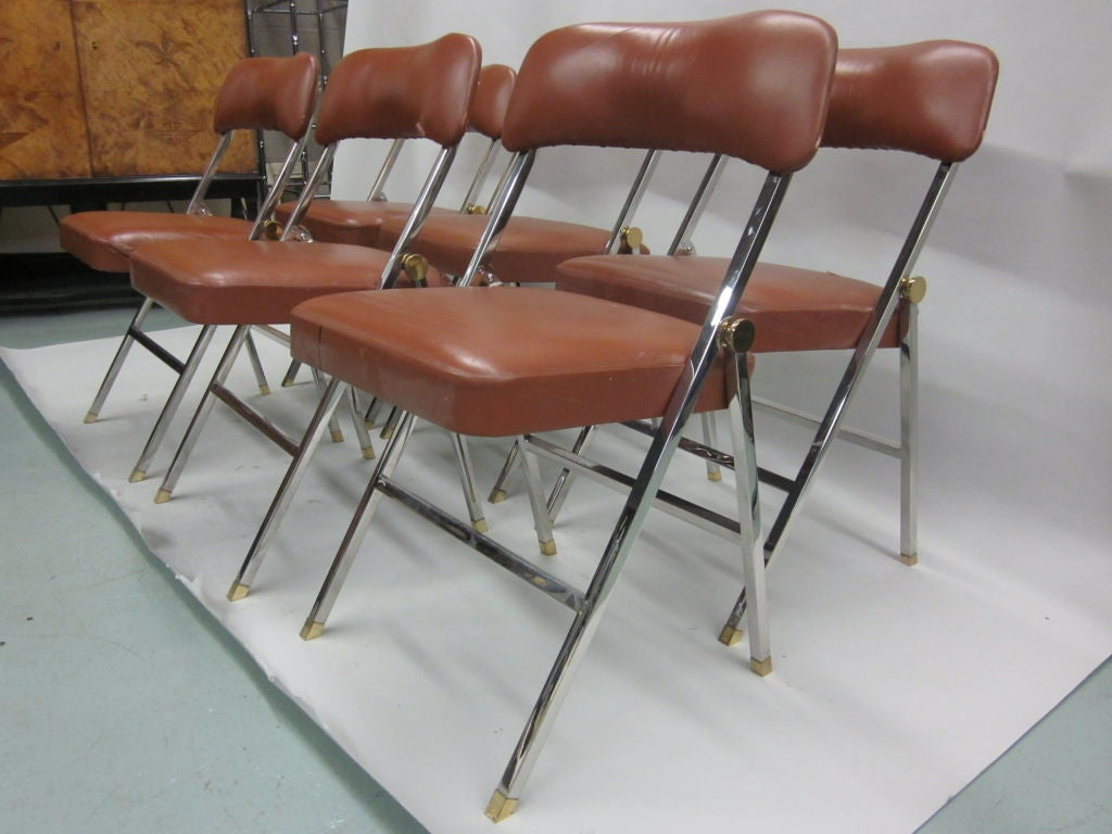 Ten French Mid-Century Modern Dining Chairs by Guy Lefevre for Maison Jansen For Sale 4