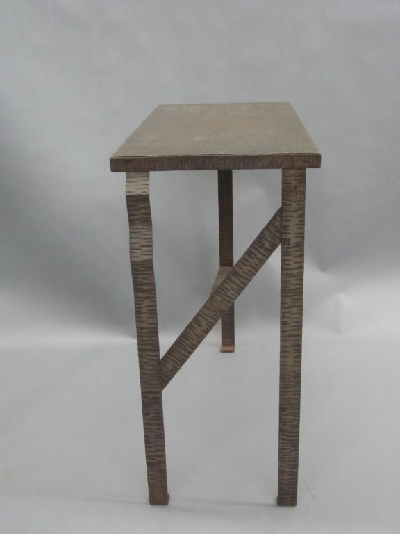 Pair of Unique French Art Deco End Tables or Consoles Attributed to Paul Kiss In Good Condition For Sale In New York, NY