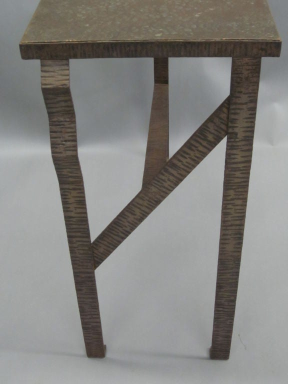 Mid-20th Century Pair of Unique French Art Deco End Tables or Consoles Attributed to Paul Kiss For Sale