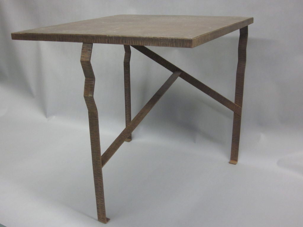 Pair of Unique French Art Deco End Tables or Consoles Attributed to Paul Kiss For Sale 2
