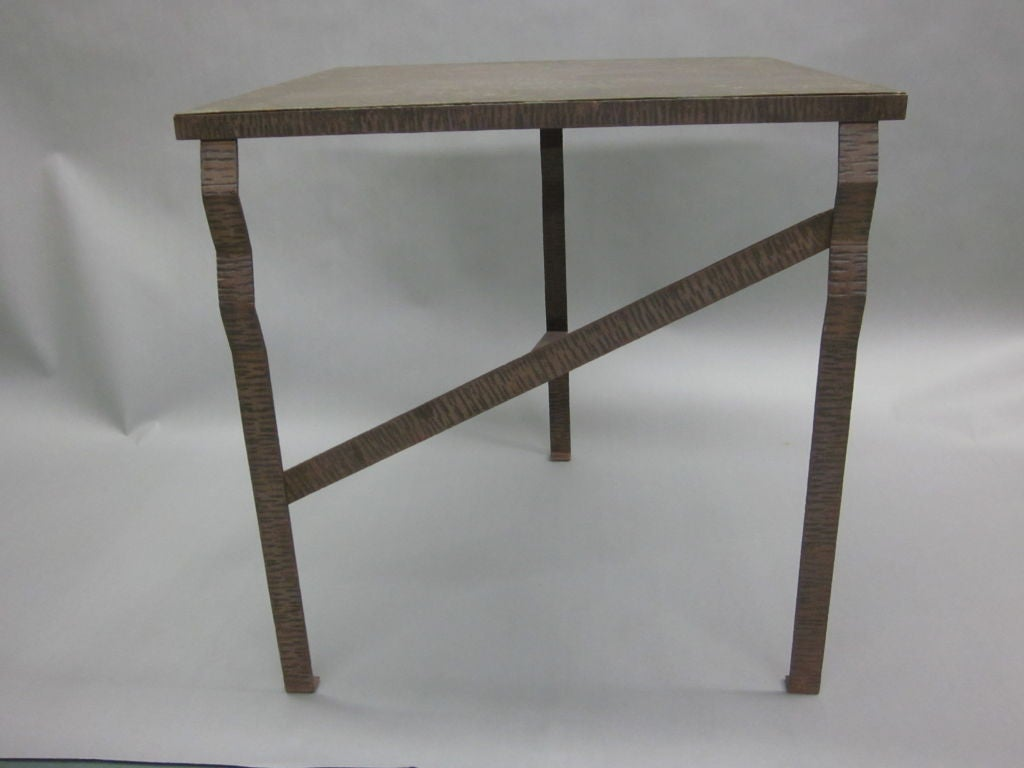 Pair of Unique French Art Deco End Tables or Consoles Attributed to Paul Kiss For Sale 3