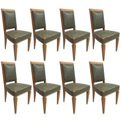 8 Dining Chairs Attributed to Andre Arbus