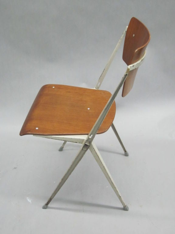 Mid-20th Century Two Dutch Mid-Century Modern Desk Chairs by Wim Rietveld For Sale