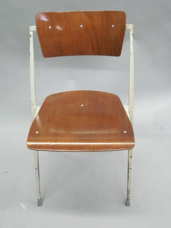 Two Dutch Mid-Century Modern Desk Chairs by Wim Rietveld For Sale 1