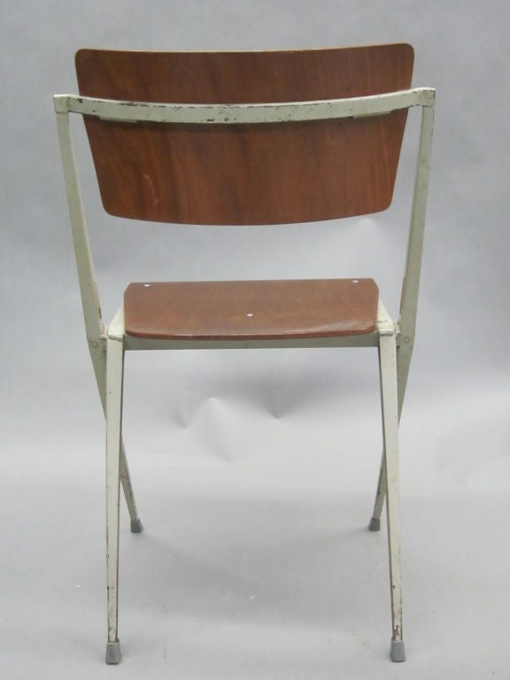 Two Dutch Mid-Century Modern Desk Chairs by Wim Rietveld For Sale 2