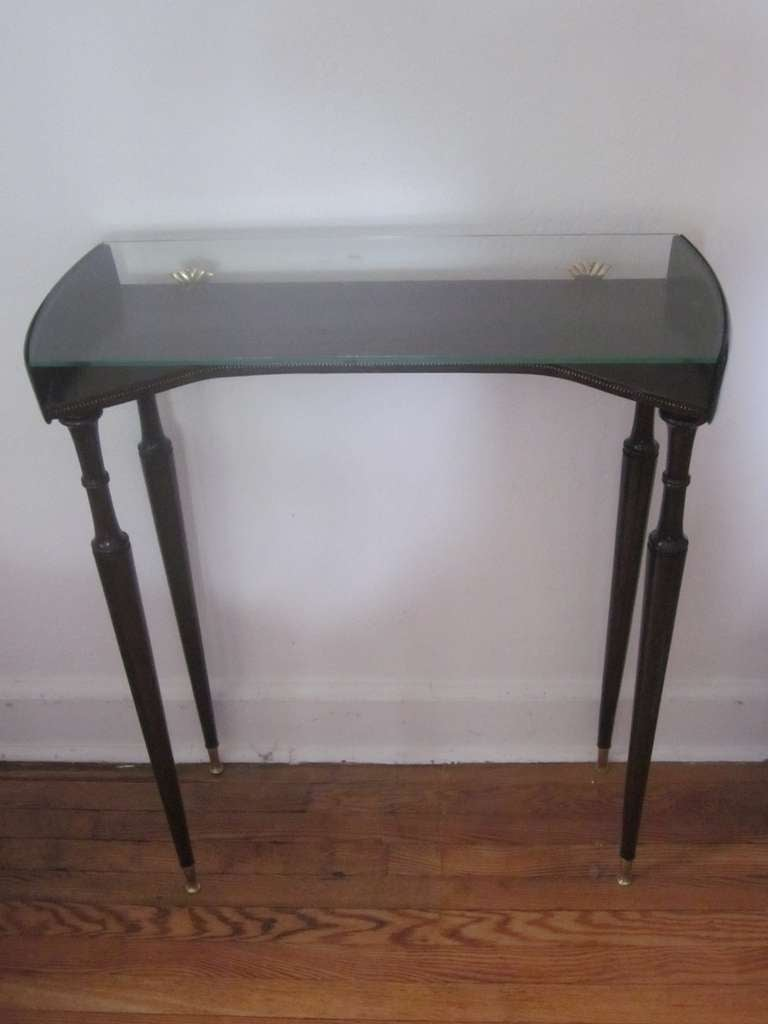 Mid-Century Modern Unique Italian 1930s Modern Neoclassical Console by Guglielmo Ulrich For Sale