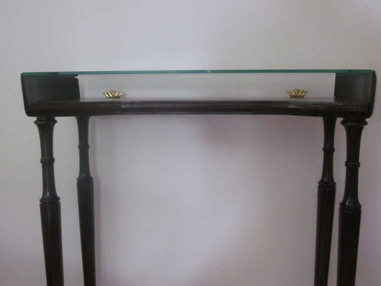 Unique Italian 1930s Modern Neoclassical Console by Guglielmo Ulrich In Excellent Condition For Sale In New York, NY