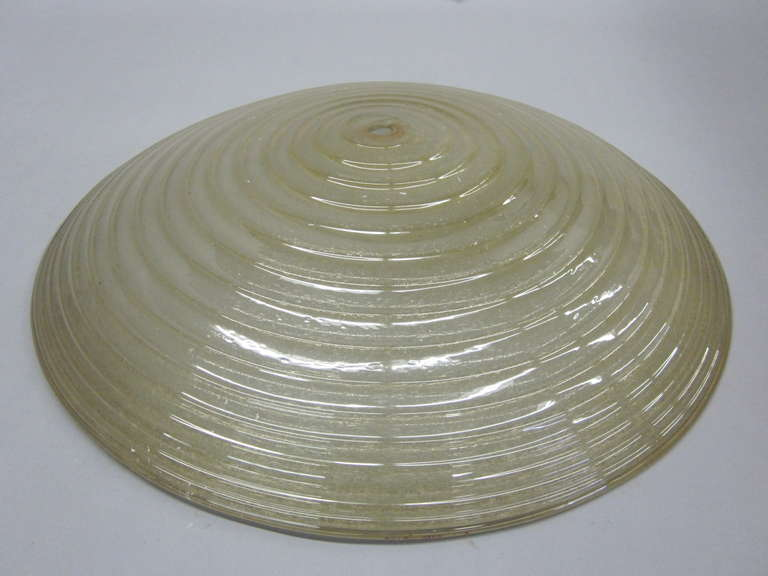 Mid-Century Modern Large Murano Glass Pendant/Fixture Attributed to Barovier e Toso For Sale
