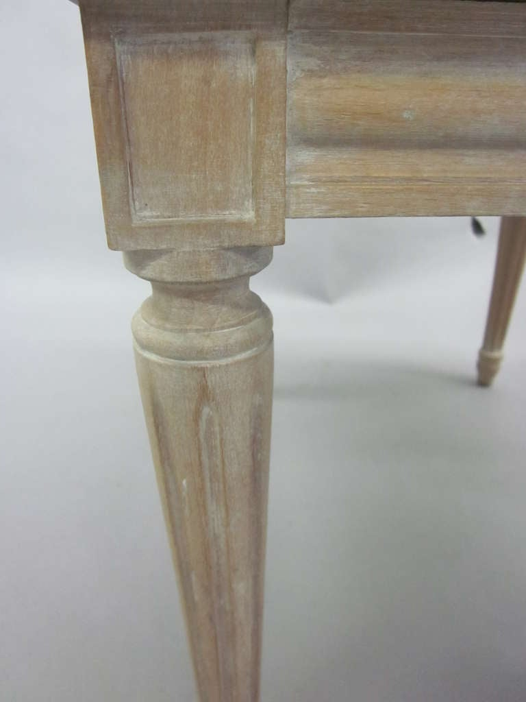 Pair of French Mid-Century Louis XVI Style Cerused Oak Benches /Stools, JM Frank For Sale 2