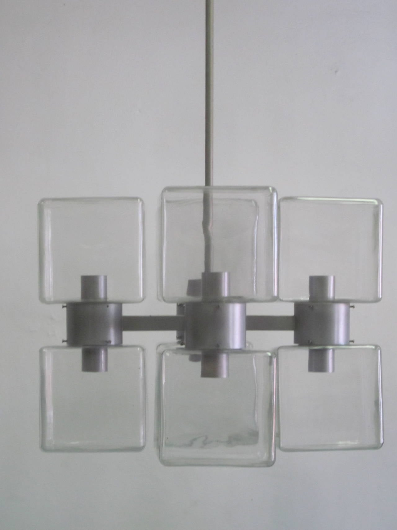 Italian Mid-Century Modern Murano / Venetian Glass Chandelier, 1960 For Sale 5