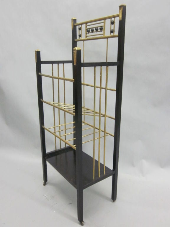 Viennese Secession Etagere / Magazine Stand in the Style of Koloman Moser 3