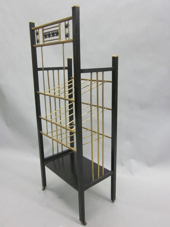 Viennese Secession Etagere / Magazine Stand in the Style of Koloman Moser 5