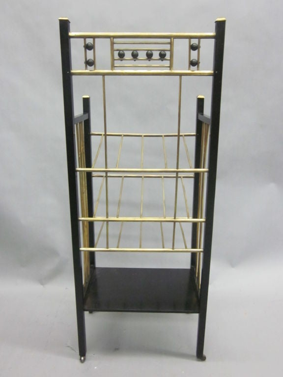 Viennese Secession Etagere / Magazine Stand in the Style of Koloman Moser 6