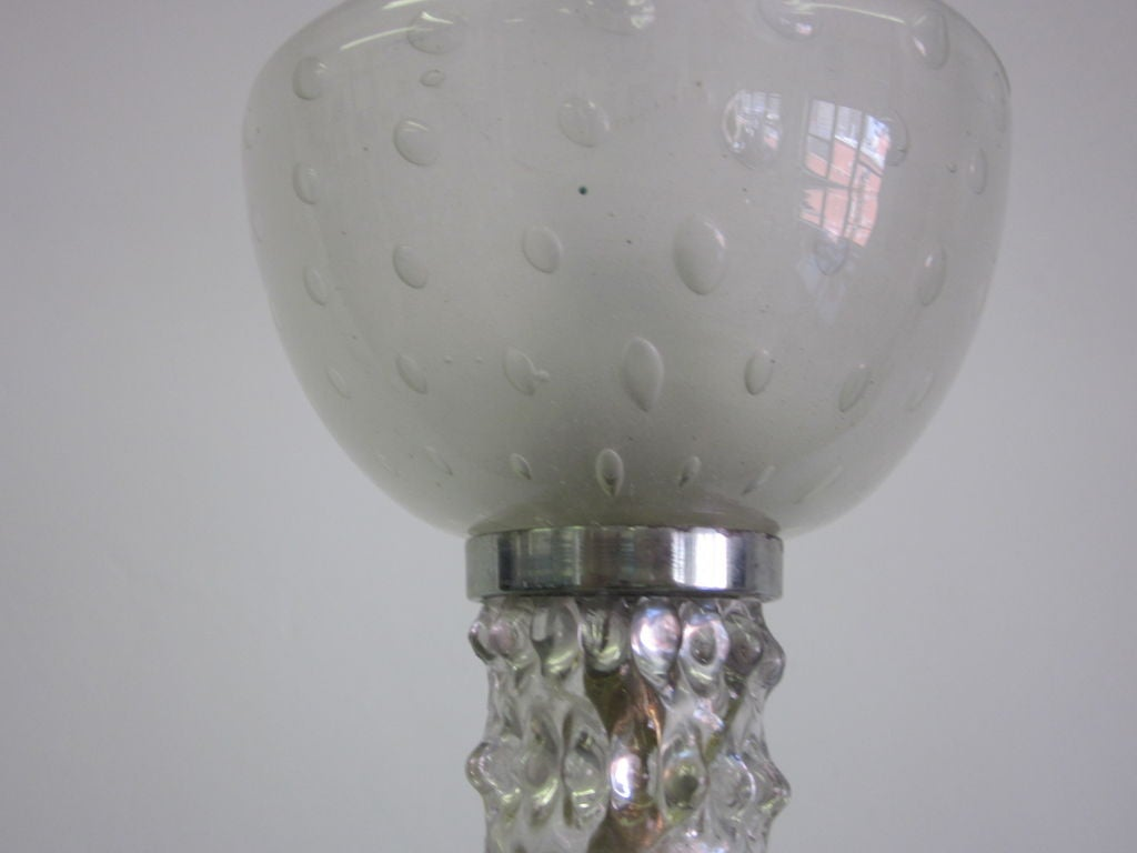 Mid-Century Clear Murano / Venetian Glass Chandelier / Pendant by Barovier, 1940 For Sale 2