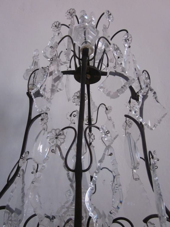 French mid century modern crystal table chandelier girandole by french mid century modern crystal table chandelier girandole by maison bagus in good condition aloadofball Choice Image