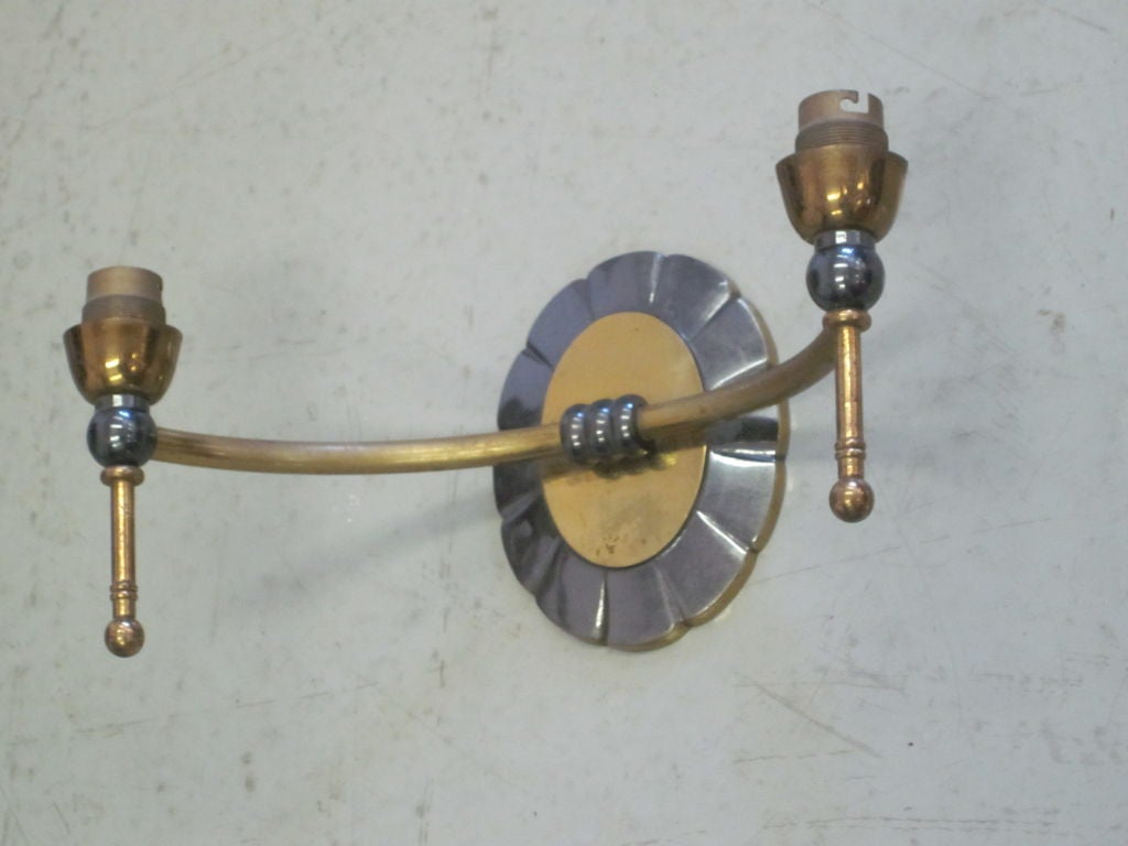 Pair of Modern Traditional Double Arm Sconces 5