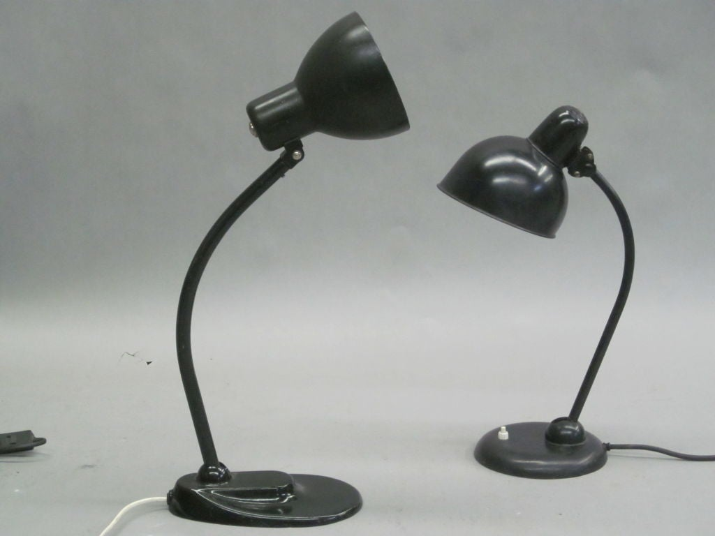 2 Bauhaus Desk Lamps By Marianne Brandt And Christian Dell