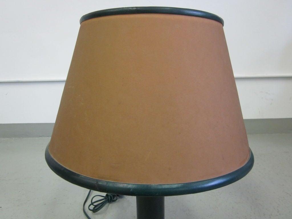 French 1940s Leather Desk Lamp Attributed to Hermès 7