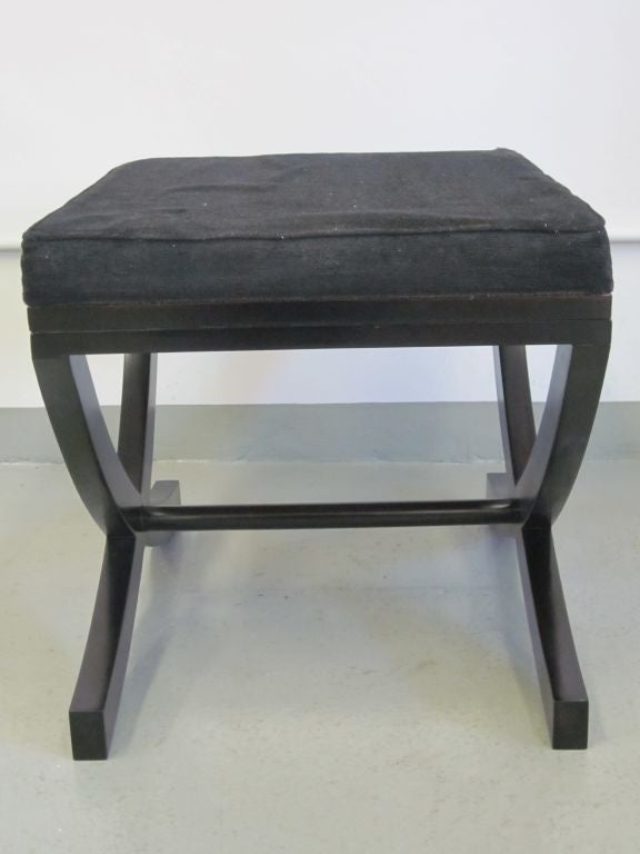 Pair of French X-Frame Benches / Stools in the Style of André Arbus For Sale 1