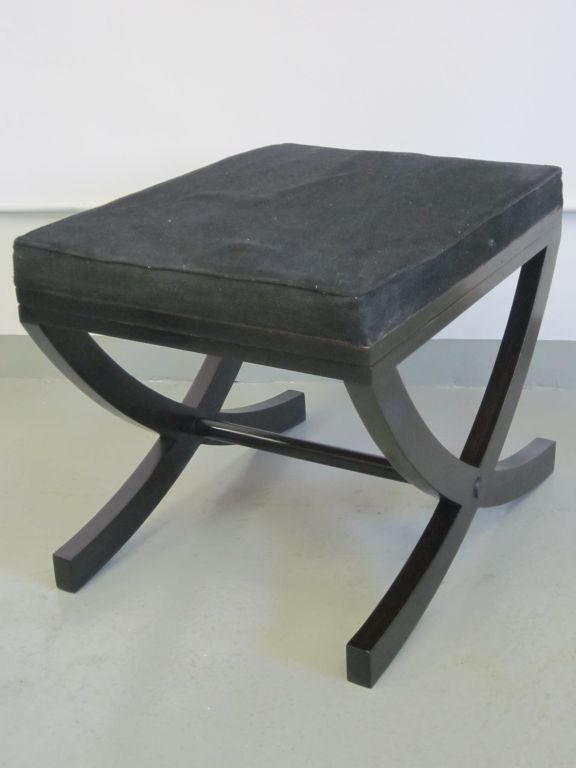 Pair of French X-Frame Benches / Stools in the Style of André Arbus For Sale 2