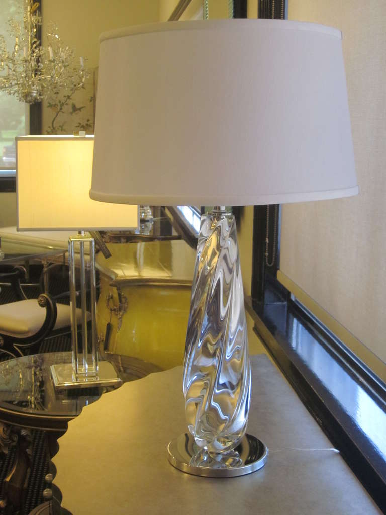 handblown clear murano glass table lamps for sale at 1stdibs. Black Bedroom Furniture Sets. Home Design Ideas